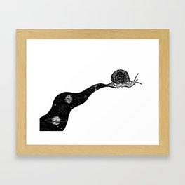 Space Snail Framed Art Print