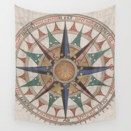 Historical Nautical Compass (1543) Wall Tapestry