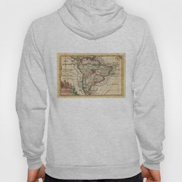 Vintage Map of South America (1747) Hoody