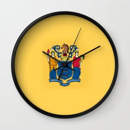 New Jersey State Flag Wall Clock