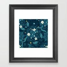Dark floral delight Framed Art Print