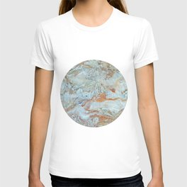 Marble in shades of blue and gold T-shirt