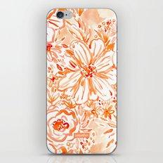 BIG SUNSHINE Orange Watercolor Floral iPhone & iPod Skin
