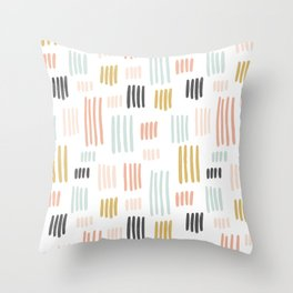 Colorful Sketched Lines Throw Pillow