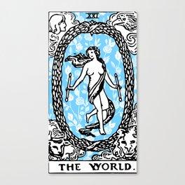Floral Tarot - The World Canvas Print