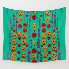 Pumkins dancing in the season pop art Wall Tapestry
