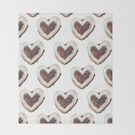 Valentine Heart Cookie Pattern Throw Blanket