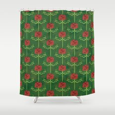 Spring Roses Pattern Shower Curtain