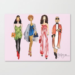 Fashion Drawing Series Pouch, Pinales Illustrated Canvas Print