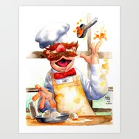 swedish Art Prints featuring Swedish chef by Roger Cruz
