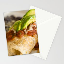 Close-up of a breakfast burrito Stationery Cards