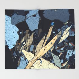 Graphic minerals Throw Blanket