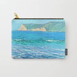 12,000pixel-500dpi - Seascape with distant headlands - Louise Upton Brumback Carry-All Pouch