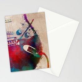guitar art 4 #guitar #music Stationery Cards