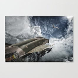 Phantom vs Mig 17 Canvas Print
