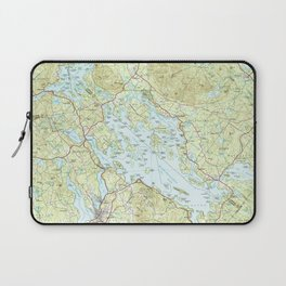Lake Winnipesaukee Map (1986) Laptop Sleeve