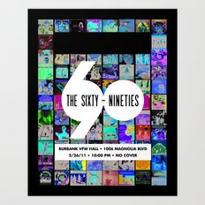 The SixtyNineties 2/26/11 Show Poster Art Print