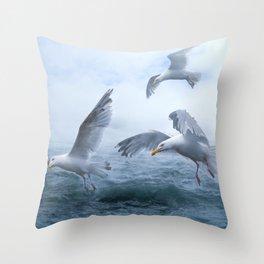Gulls at Sea Throw Pillow