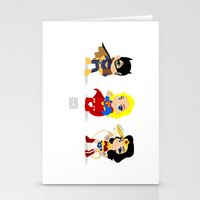 girl power Stationery Cards featuring Girl Power by Nate Kelly