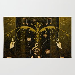 Music, clef and key notes Rug