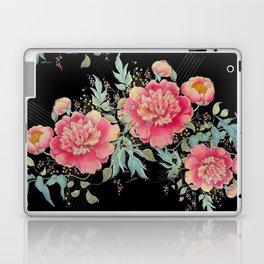 Gipsy paeonia in black Laptop & iPad Skin
