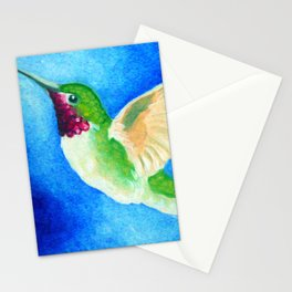Colorful Hummingbird Stationery Cards