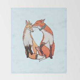 Fox Family Throw Blanket