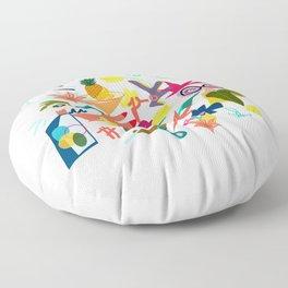 Illustration -between coffee and tea Floor Pillow