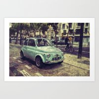 Fiat 500 Abarth Art Print