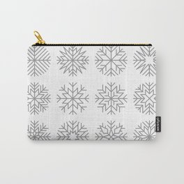 minimalist snow flakes Carry-All Pouch