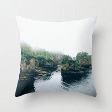 Cape Flattery Fog Throw Pillow