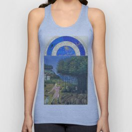 The hunt vintage Medieval design Unisex Tank Top