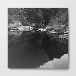 Shoreline Reflection On the Water Metal Print