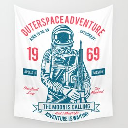 Outer space Adventure - Born to be an astronaut Wall Tapestry