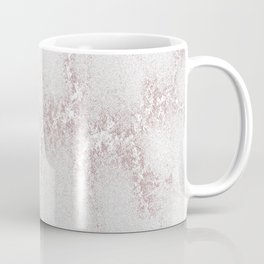 Marble Pattern Silver Rosé Coffee Mug