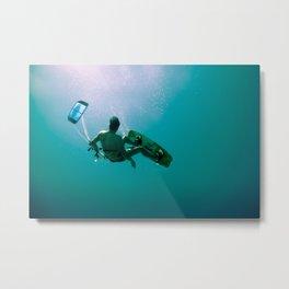 Kite surfing I Metal Print