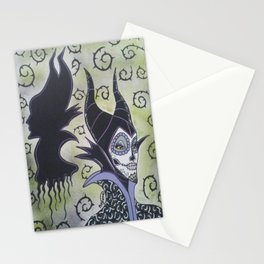Maleficent Sugar Skull Stationery Cards