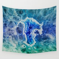 mineral Wall Tapestries featuring MINERAL MAZE by Catspaws