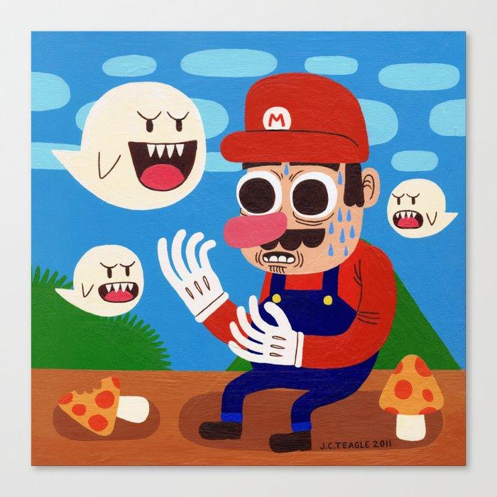 Tripping in the Mushroom Kingdom Canvas Print