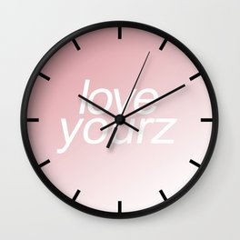 Jcole Love Yourz Wall Clock