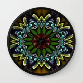 mandalas on duffle bags -3- Wall Clock