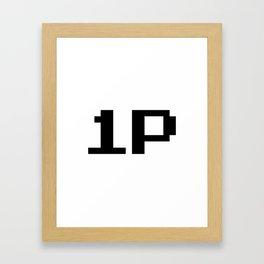Player One 1P Framed Art Print