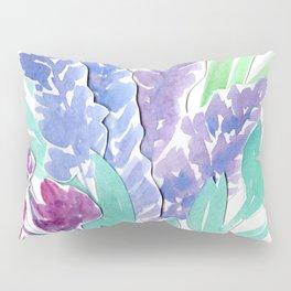 Lavender Floral Watercolor Bouquet Pillow Sham