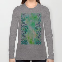 Watercolor and gentle abstract  flowers Long Sleeve T-shirt