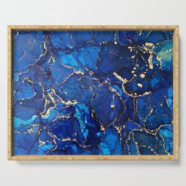 Sea Stars - Flowing Abstract Painting Serving Tray