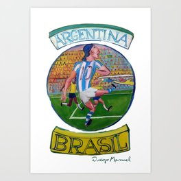 Argentina Brasil 6 Art Print