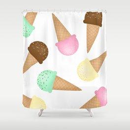 Ice Cream Pattern Shower Curtain