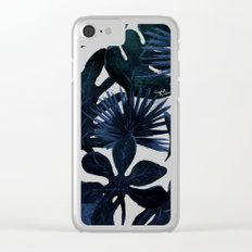 Tropical Leaves - Midnight Clear iPhone Case