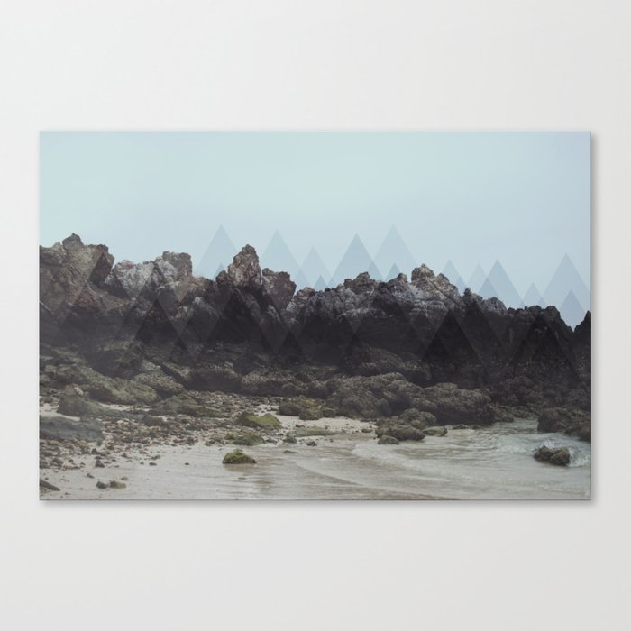 Geometric Rocks Canvas Print