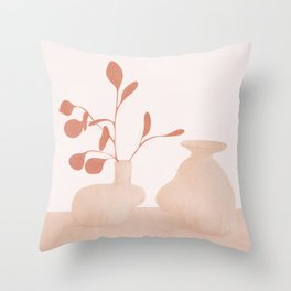 Minimal Branches and Vases Throw Pillow